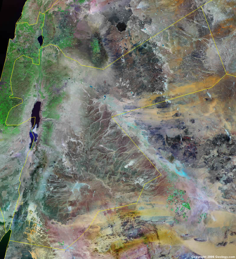 Jordan satellite photo