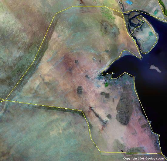 Kuwait satellite photo