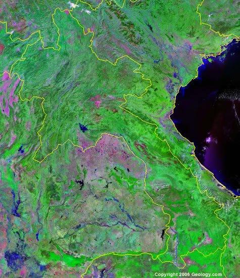 Laos satellite photo