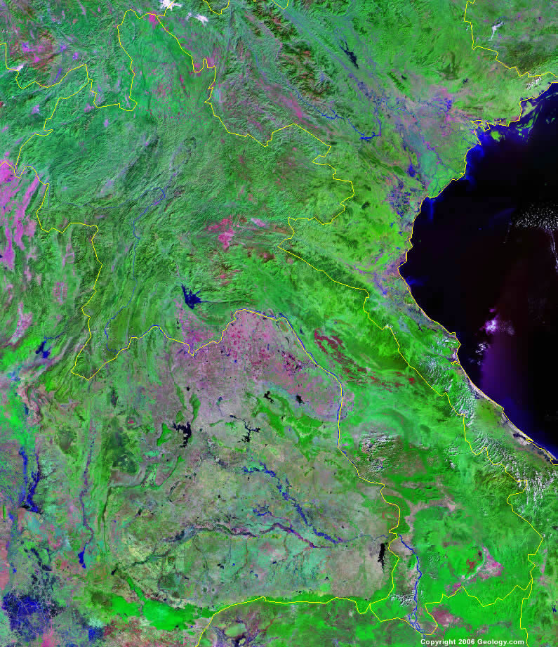 Laos satellite photo