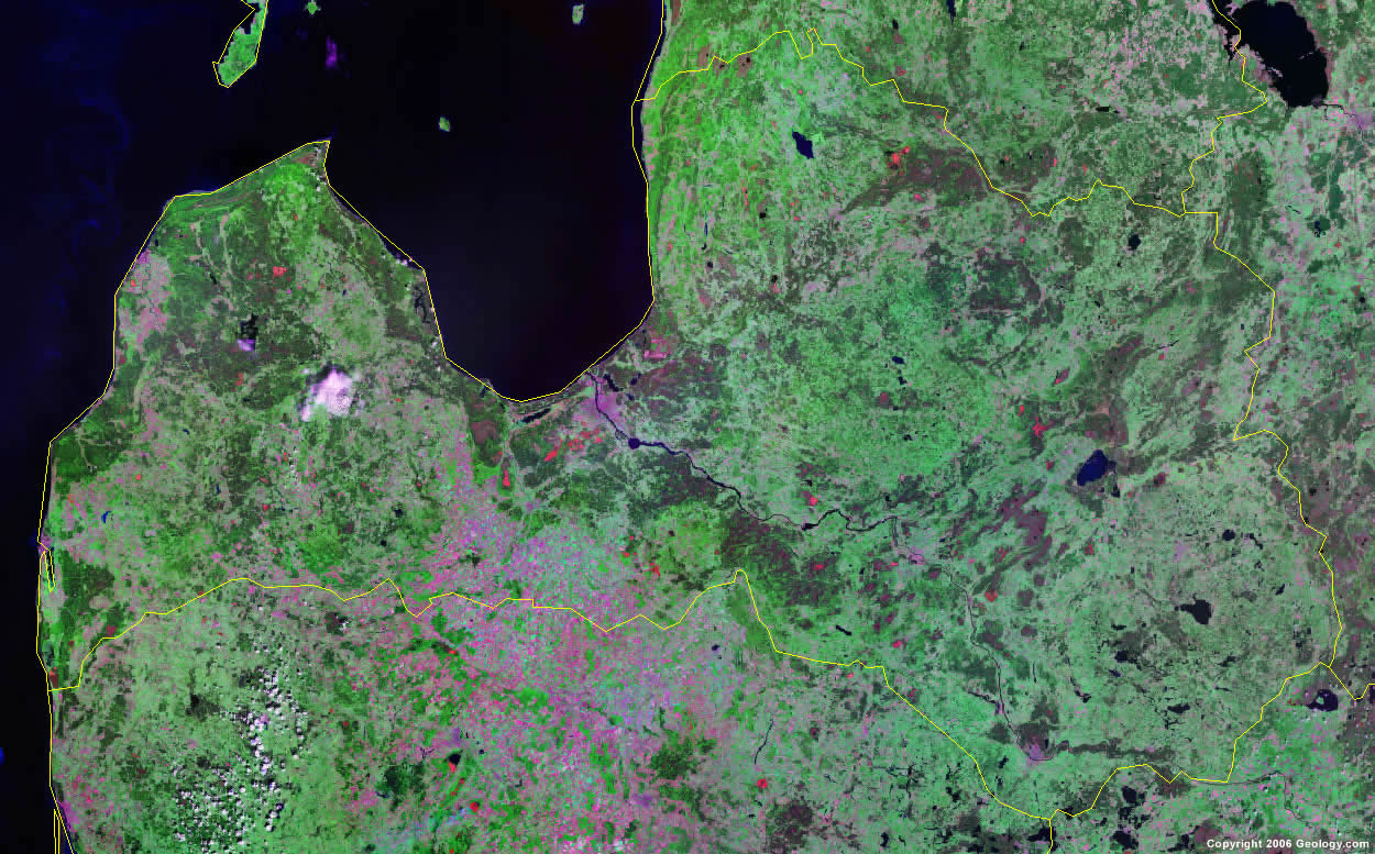 Latvia satellite photo