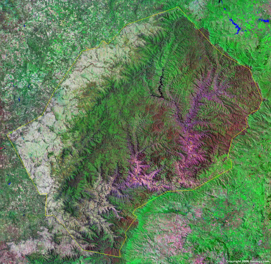 Lesotho satellite photo