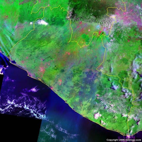 Liberia satellite photo