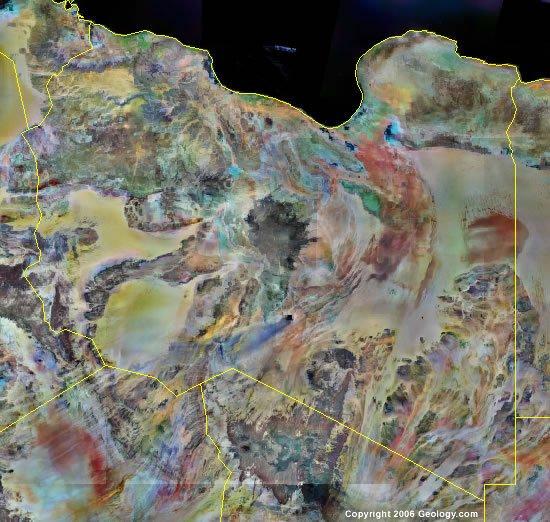 Libya satellite photo