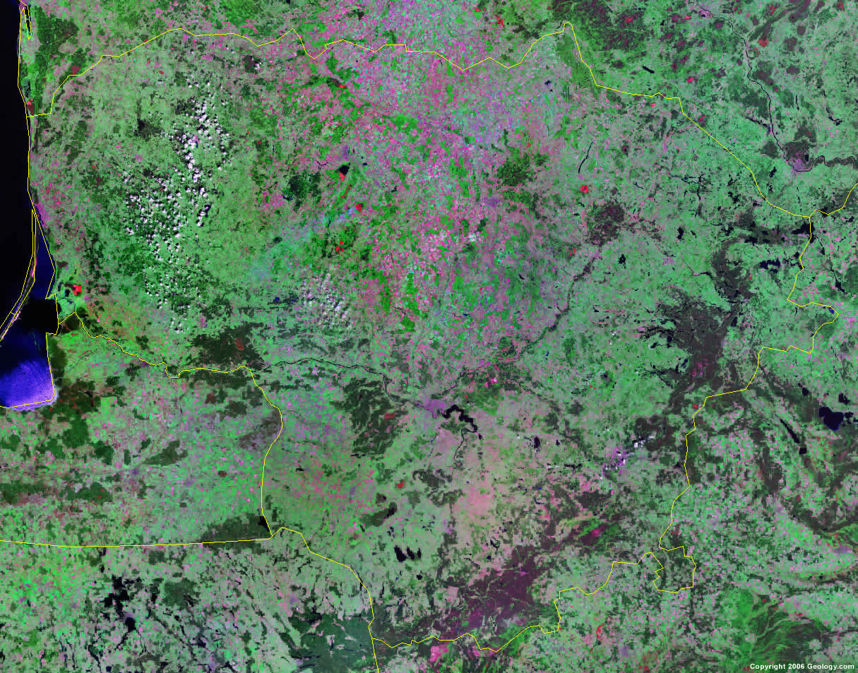 Lithuania satellite photo