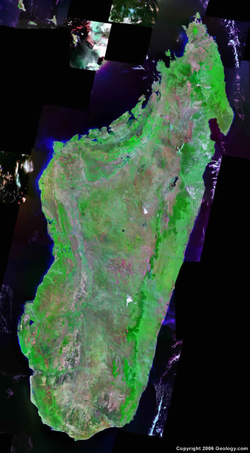 Madagascar satellite photo