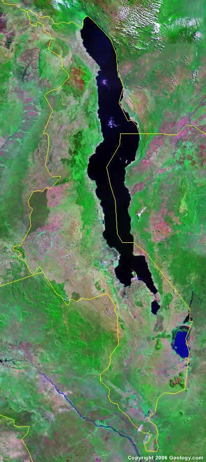 Malawi satellite photo