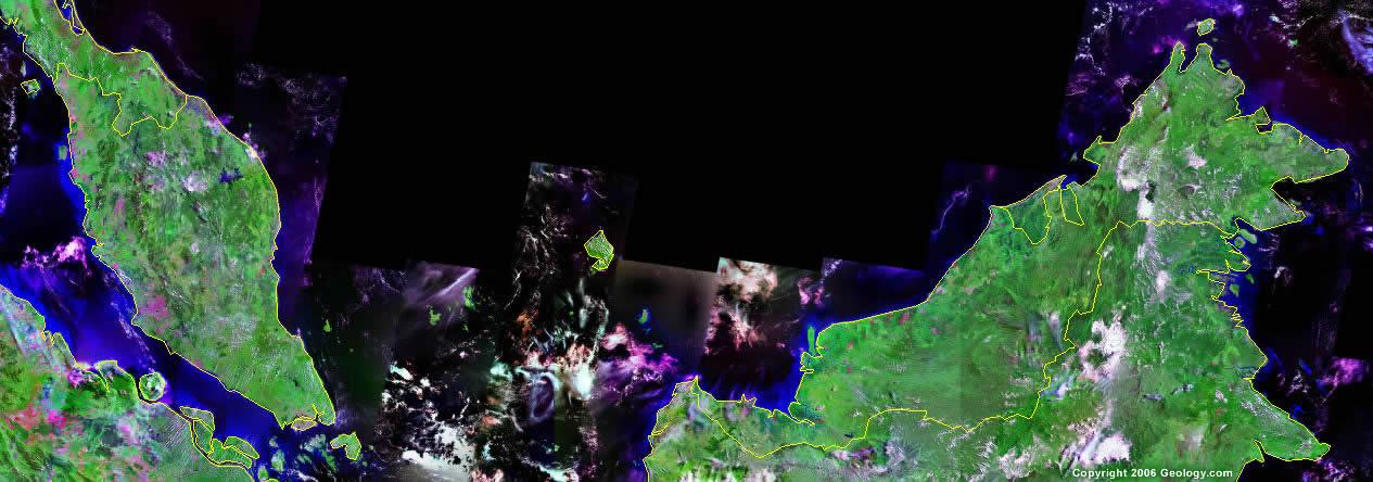 Malaysia satellite photo