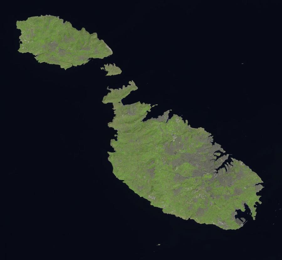 Malta satellite photo