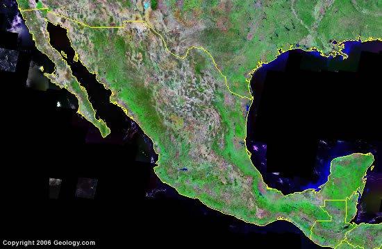 Mexico satellite photo