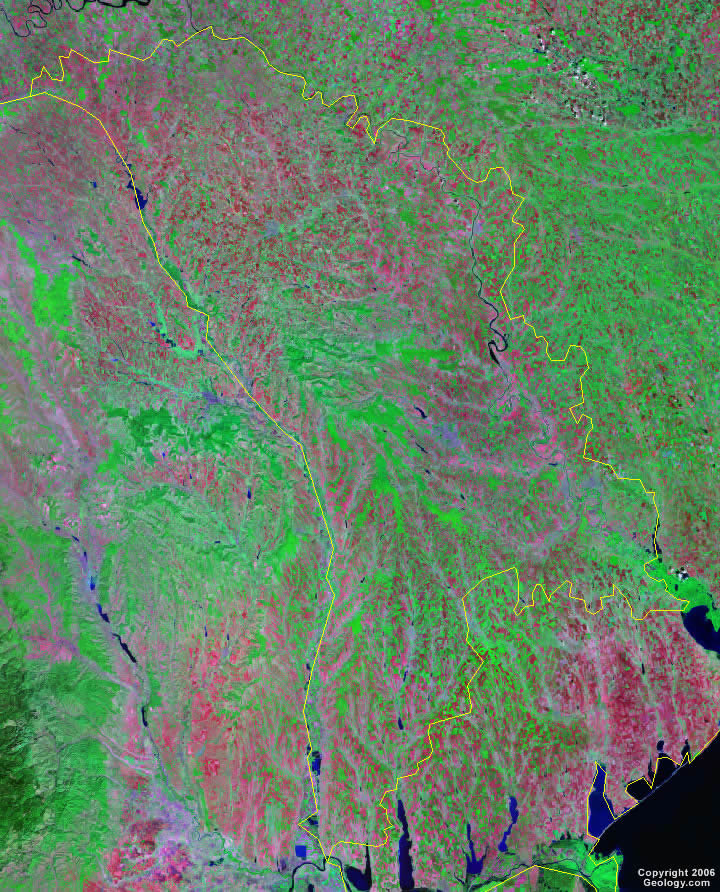 Moldova satellite photo