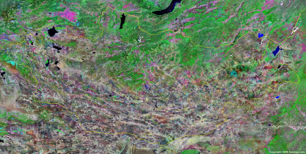 Mongolia satellite photo