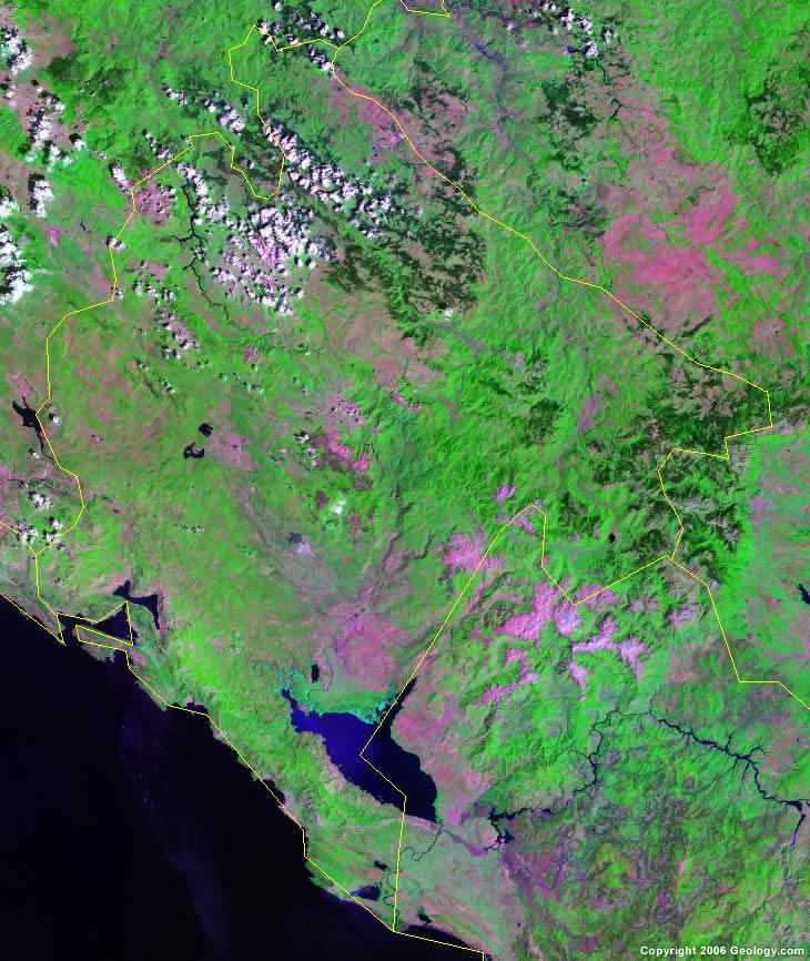 Montenegro satellite photo