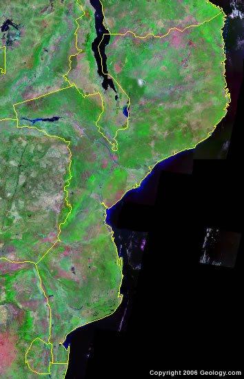 Mozambique satellite photo