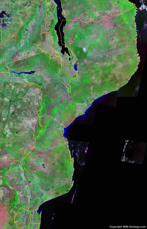 Mozambique satellite photo
