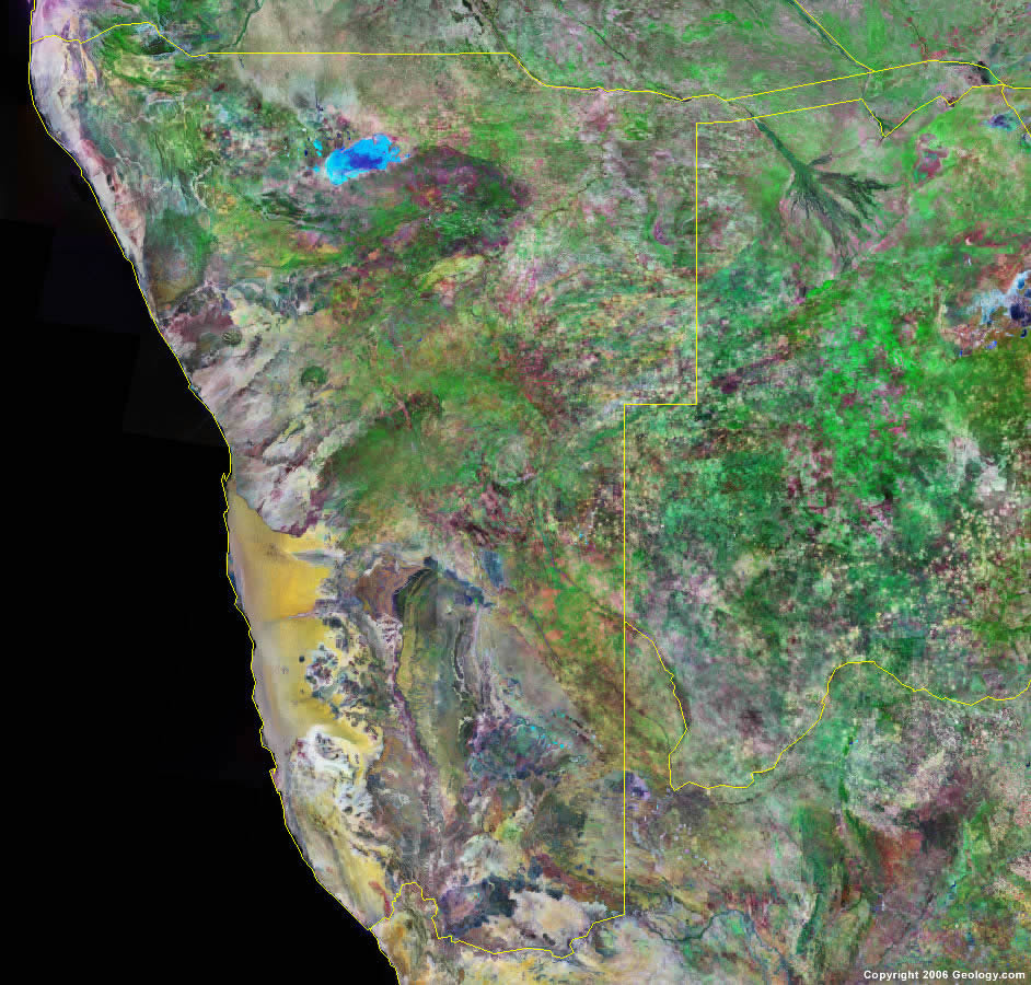 Namibia Map and Satellite Image