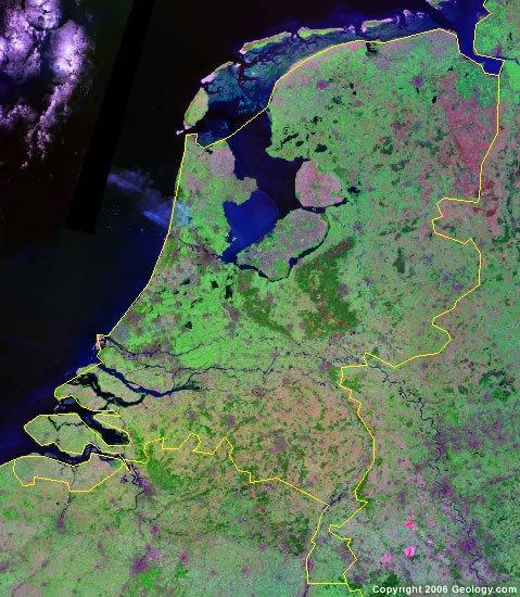 Netherlands satellite photo