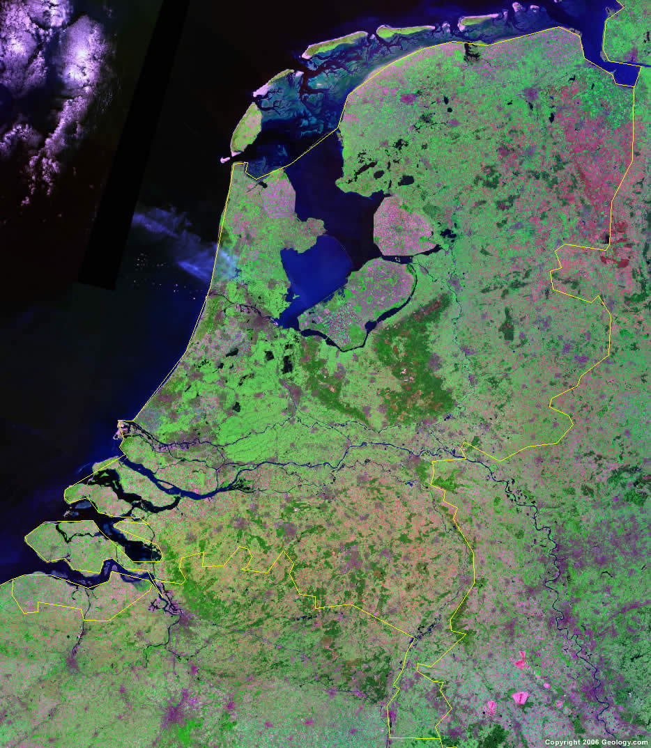 Netherlands satellite photo