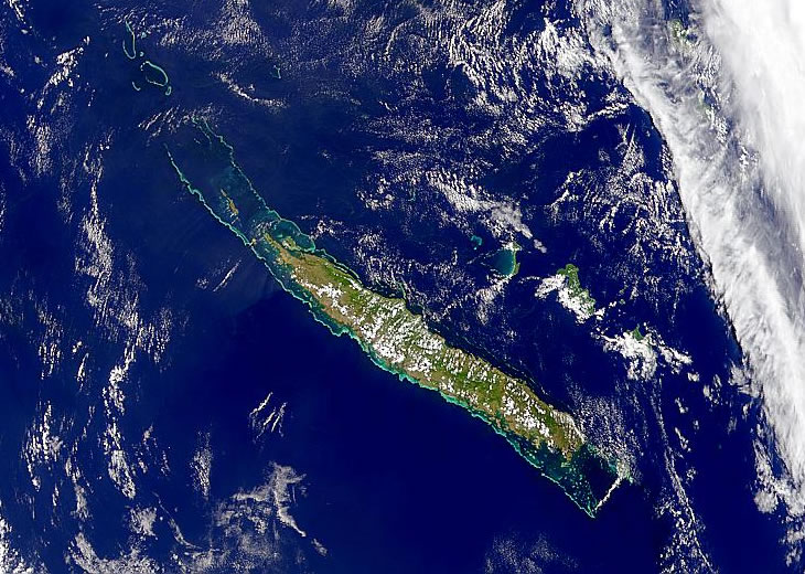 New Caledonia satellite photo