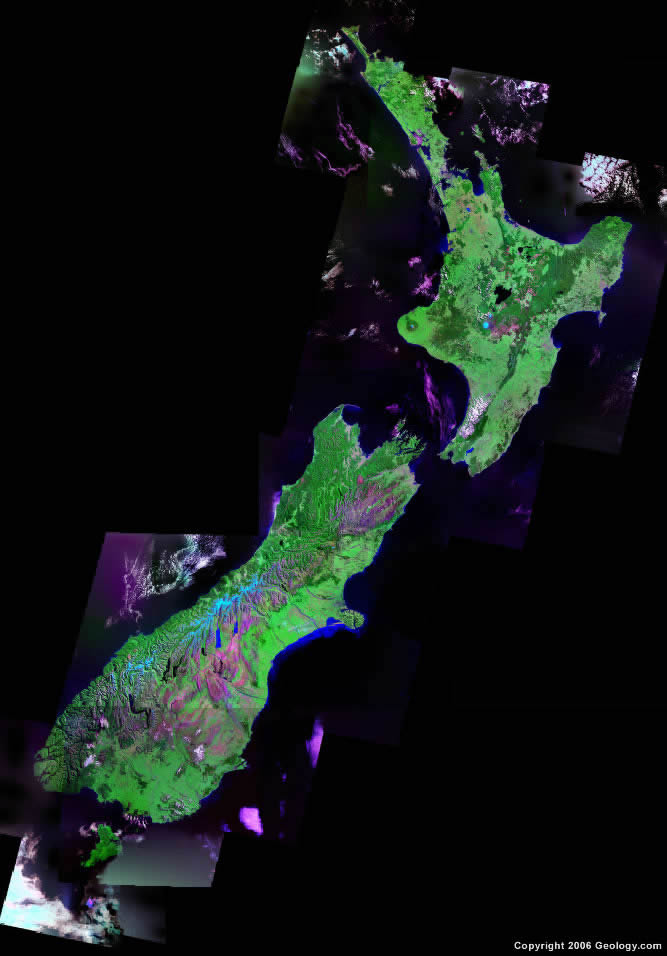 New Zealand satellite photo