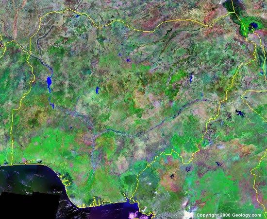 Nigeria satellite photo