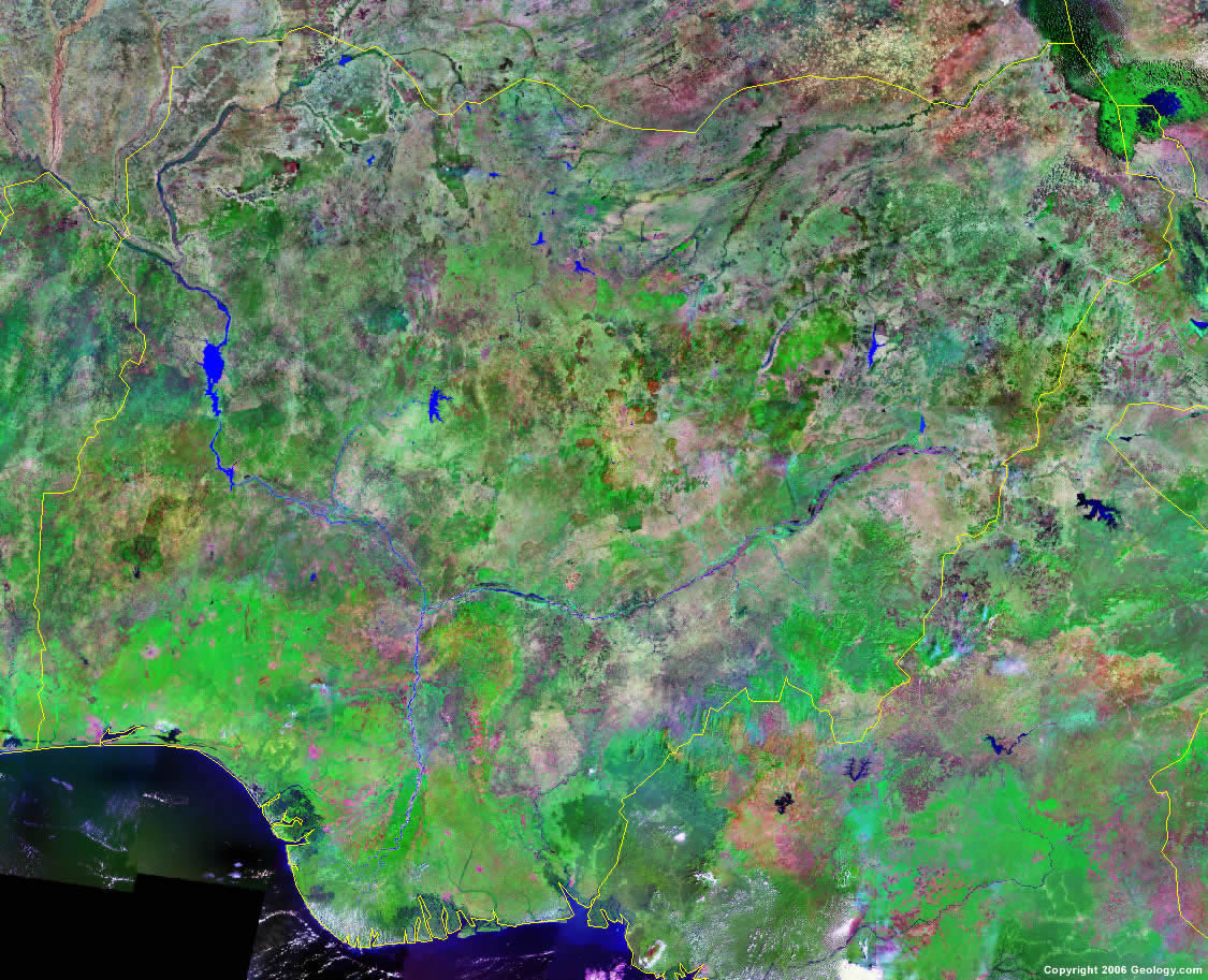 Nigeria Map And Satellite Image - Map of nigeria