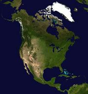 satellite image of the North American Continent