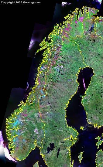 Norway satellite photo