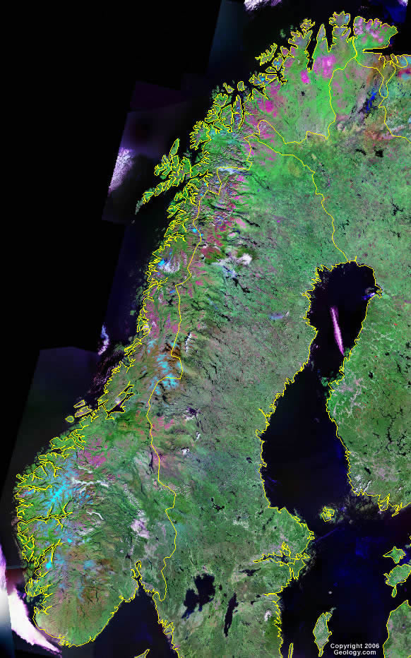 Norway Map And Satellite Image - Norway michigan map