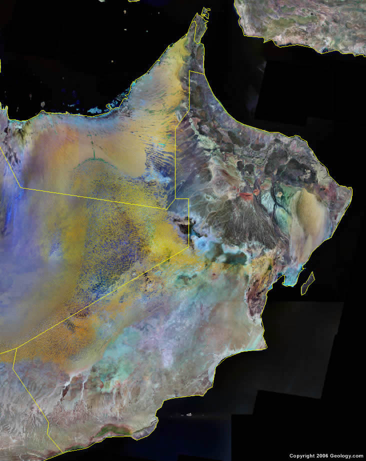 Oman satellite photo
