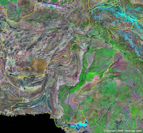 Pakistan satellite photo
