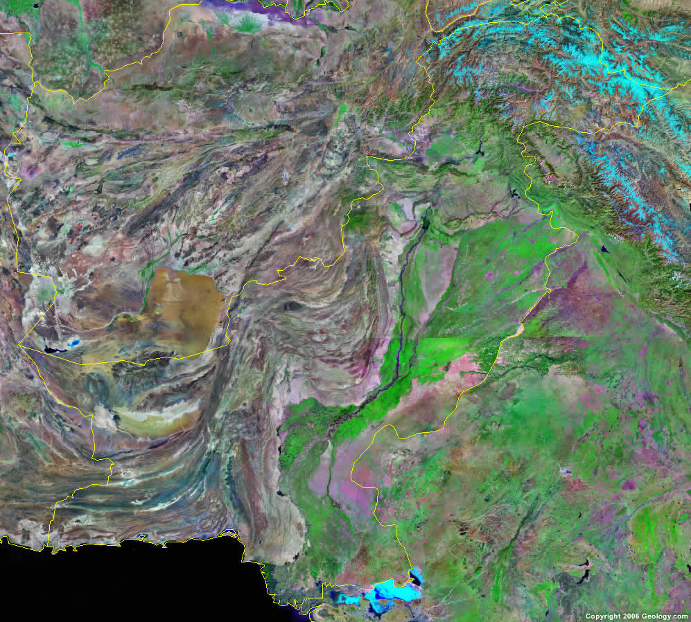 Pakistan Map And Satellite Image - Google world map satellite free