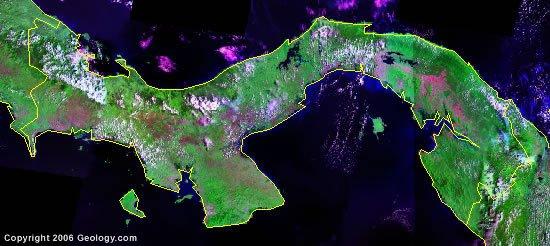 Panama satellite photo