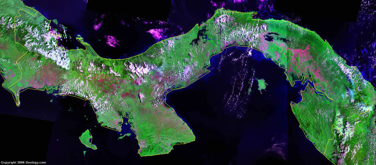 Panama satellite photo