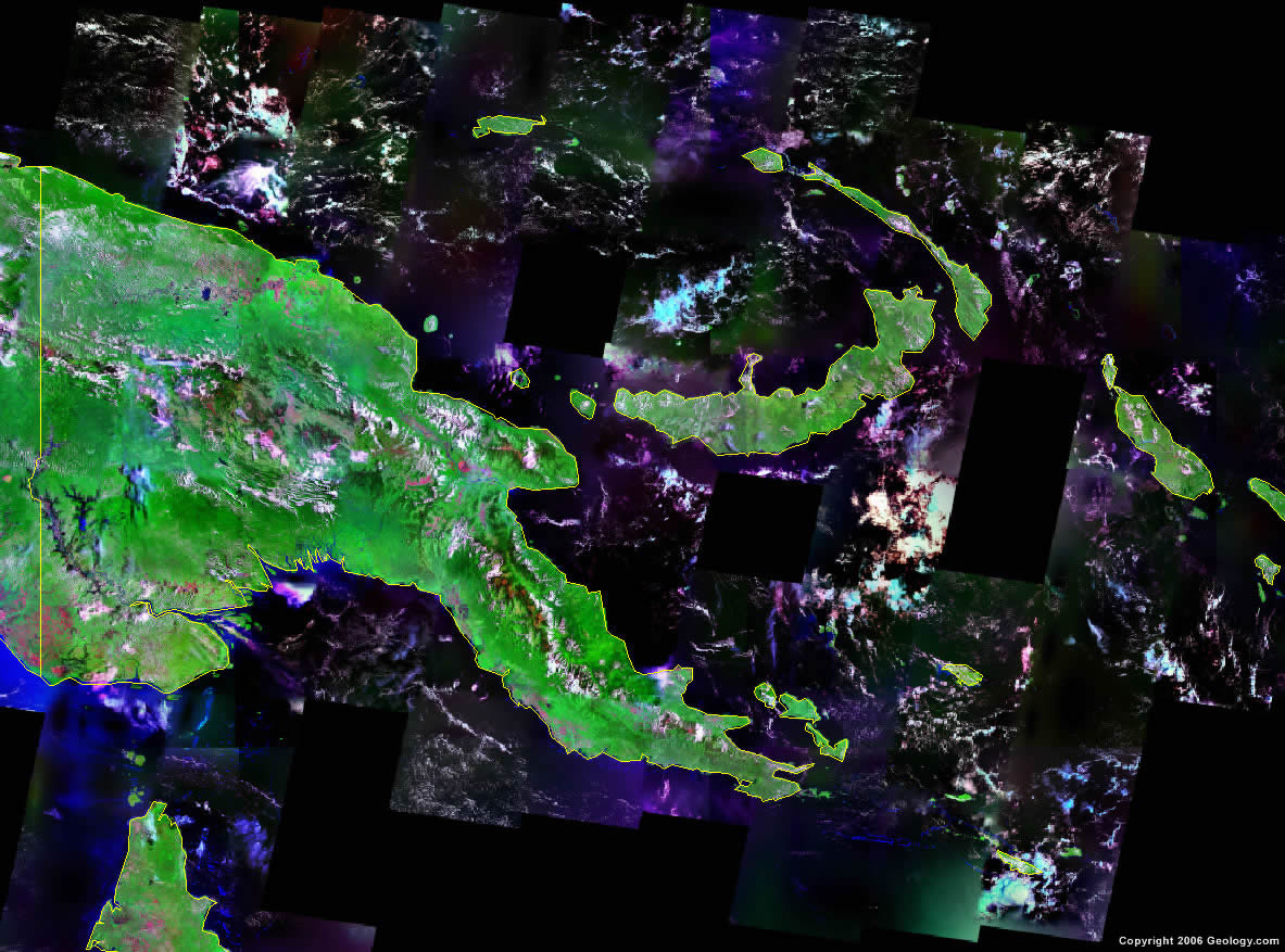 Papua New Guinea satellite photo