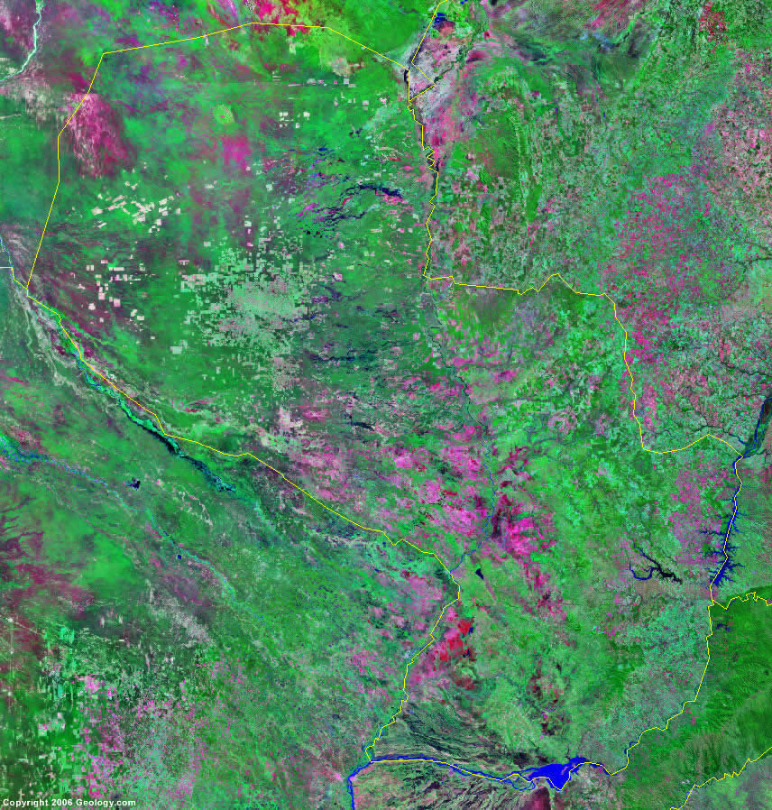 Paraguay satellite photo