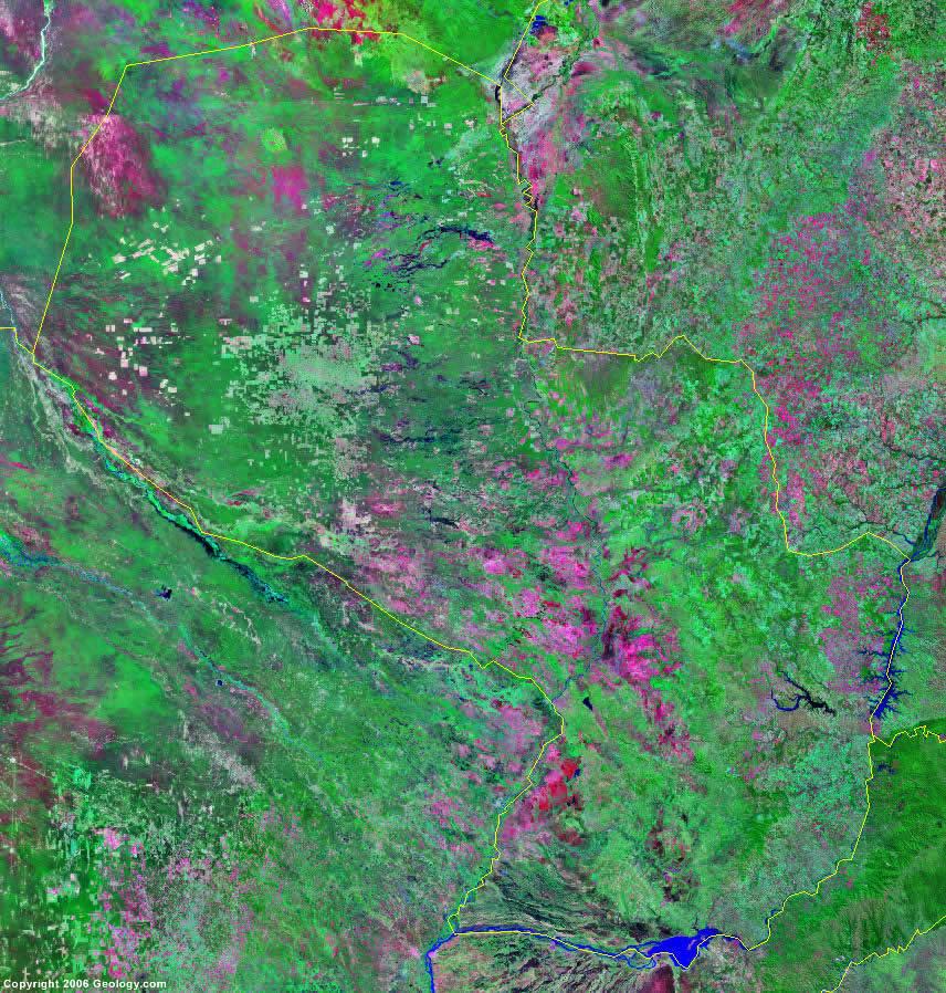 Paraguay satellite photo