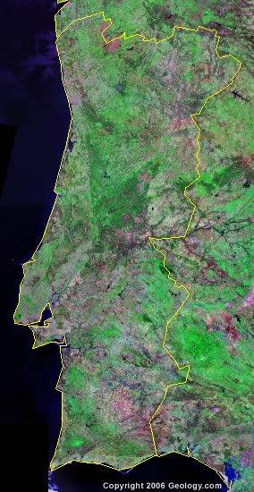 Portugal satellite photo