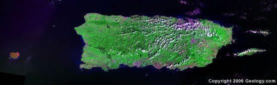 Puerto Rico satellite photo
