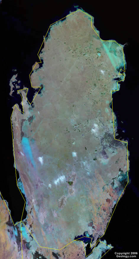 Qatar satellite photo