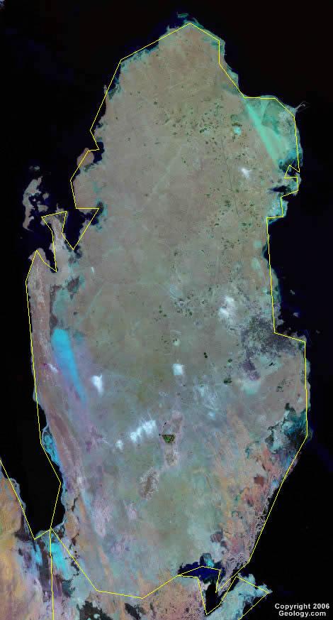 qatar satellite photo