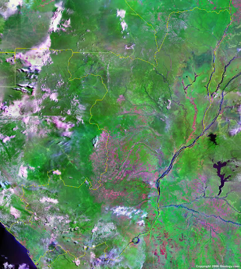 Republic of the Congo satellite photo