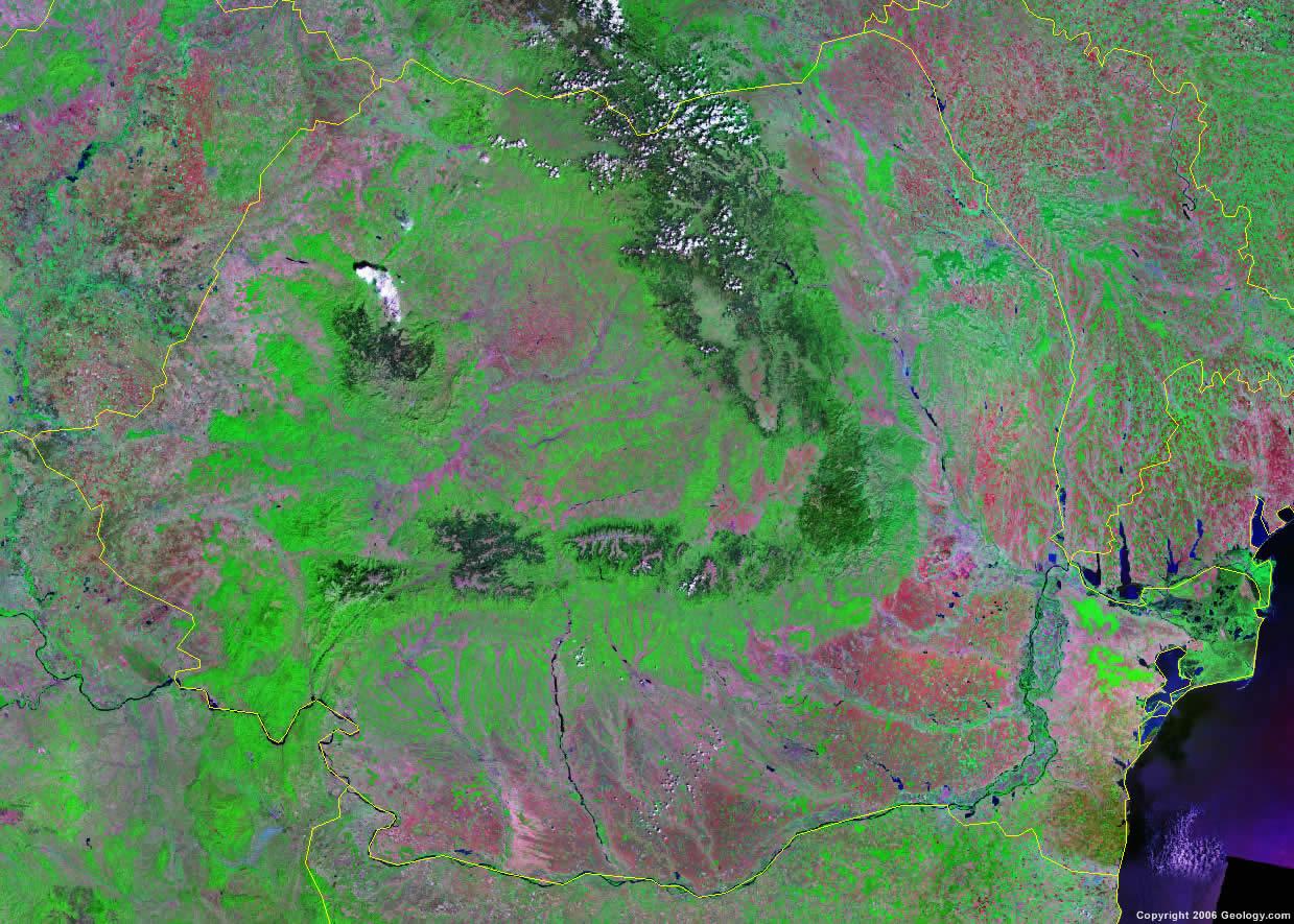 Romania satellite photo