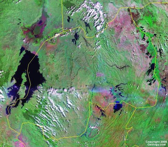Rwanda satellite photo