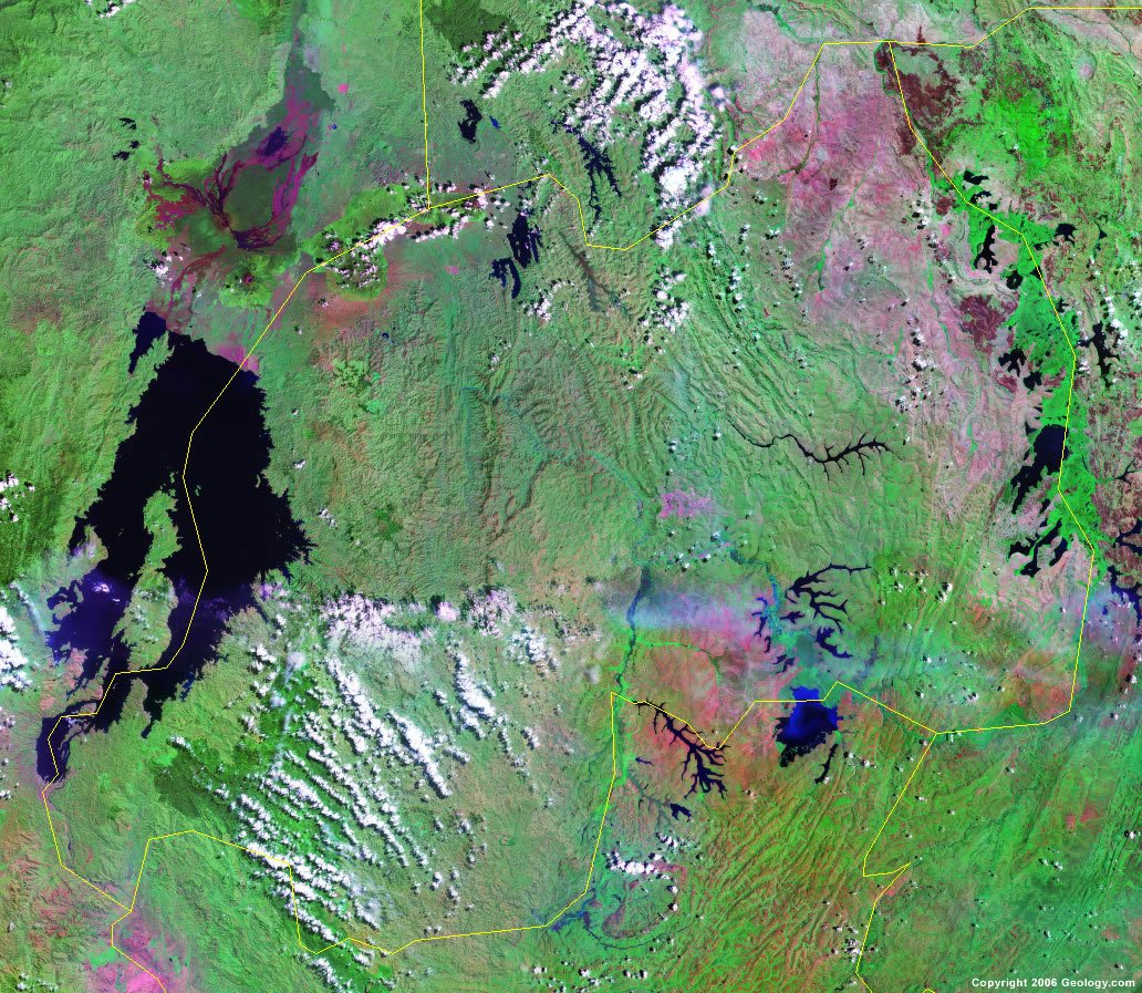 Rwanda satellite photo
