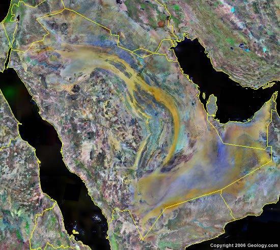 Saudi Arabia satellite photo