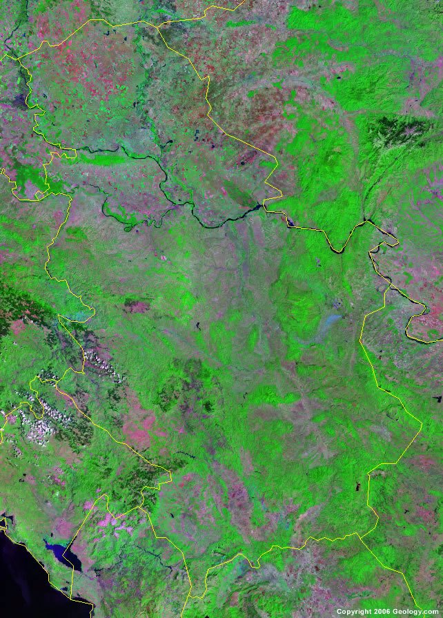 Serbia Map And Satellite Image