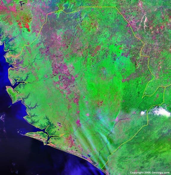 Sierra Leone satellite photo