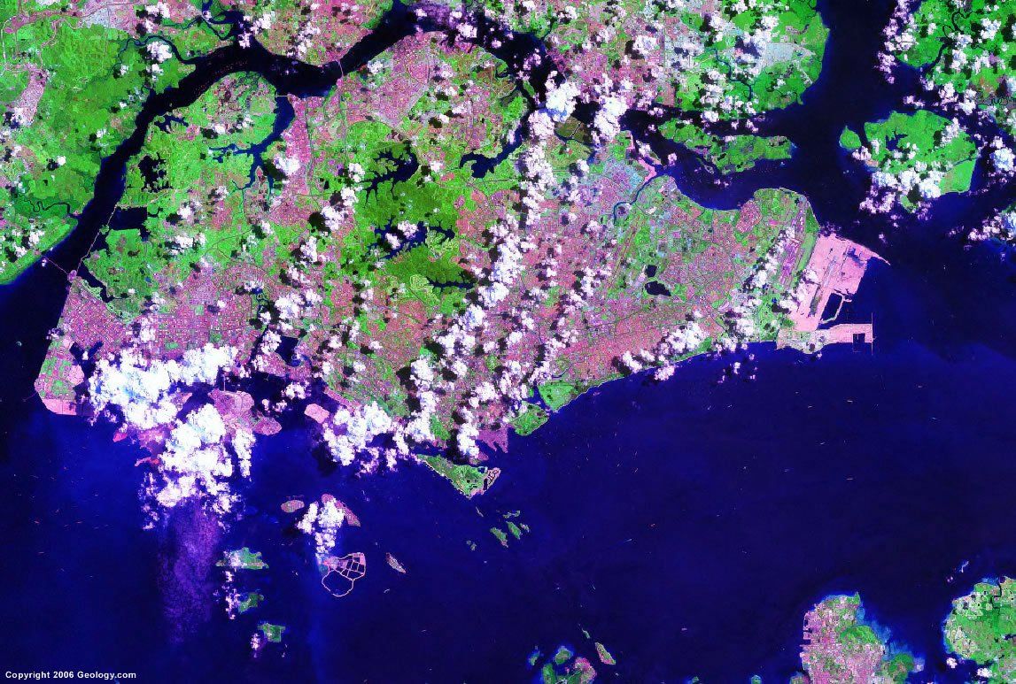 Singapore satellite photo