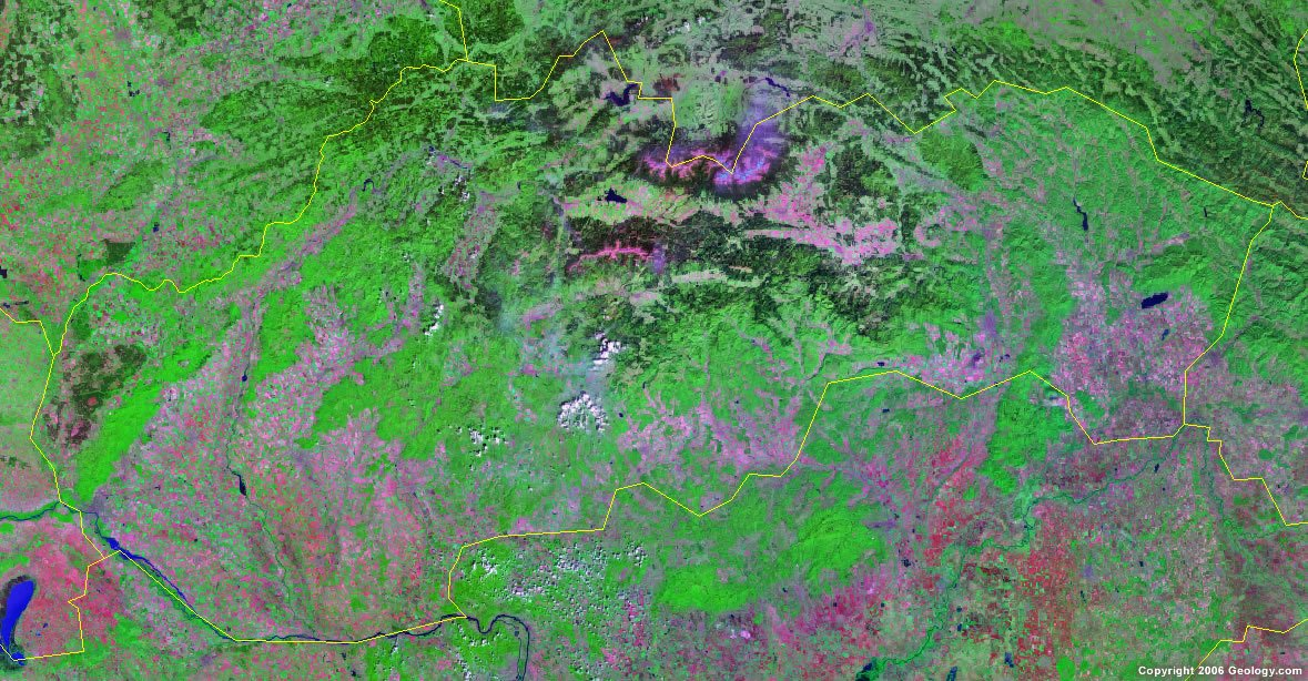 Slovakia satellite photo